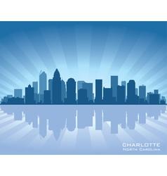 charlotte north carolina skyline vector image