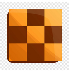 Chess biscuit icon cartoon style vector