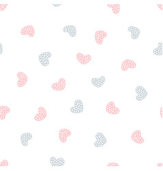 childish seamless pattern with hearts vector image