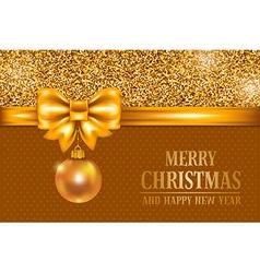 Christmas gold card vector