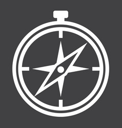 Compass line icon navigation and travel vector