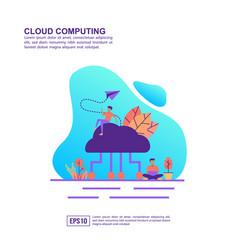 concept cloud computing modern conceptual for vector image