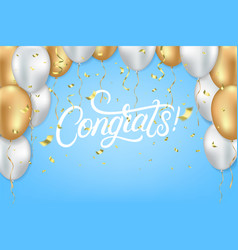 congrats celebrate template vector image