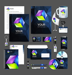 corporate identity creative color template design vector image