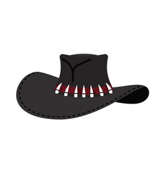 Cowboy hat isolated australian crocodile hunter vector