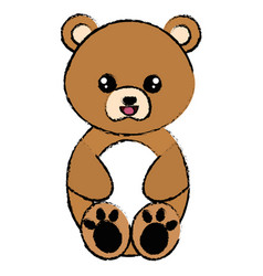 Cute and tender bear character vector