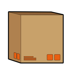Delivery cardboard box package icon vector