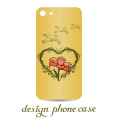 design phone case vintage decorative elements vector image