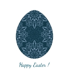 Easter egg decorated floral seamless ornament vector image
