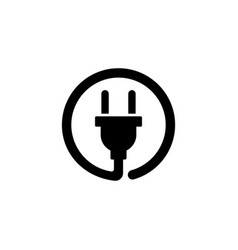 electric plug flat icon vector image