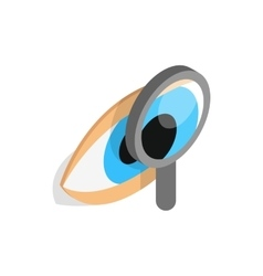 Eye exam icon isometric 3d style vector image