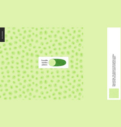 food patterns vegetable cucumber vector image