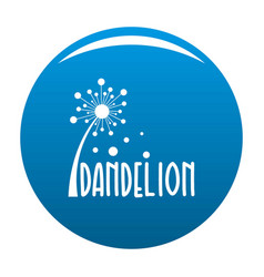 Forest dandelion logo icon blue vector