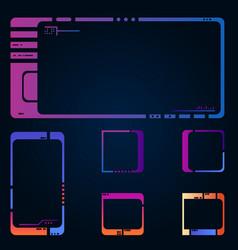 futuristic frames vector image