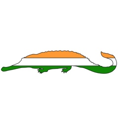 Gharial India vector image