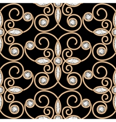 Gold diamond pattern vector
