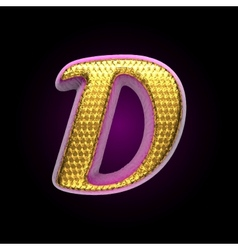golden and pink letter d vector image