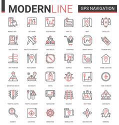 gps navigation service line icon vector image