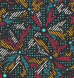 grunge mosaic seamless pattern vector image