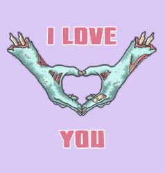 halloween zombie hand vector image