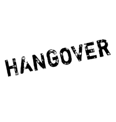Hangover rubber stamp vector