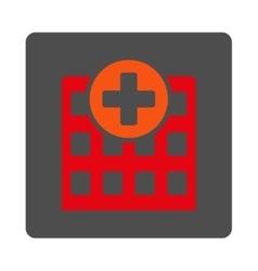 Hospital Flat Button vector