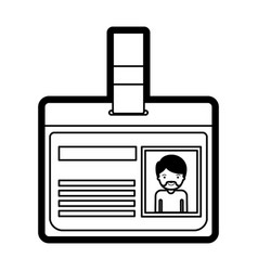 Identification card with half body man picture vector
