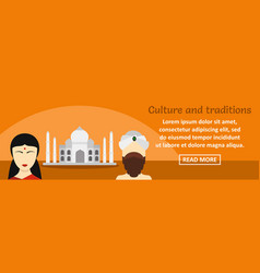 india culture and traditions banner horizontal vector image
