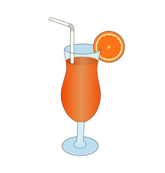 isolated appetizing orange juice vector image