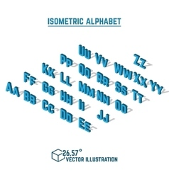 Isometric alphabet and font vector image