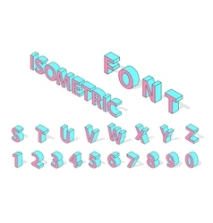 Isometric alphabet font isolated vector image