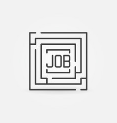 Job maze icon vector