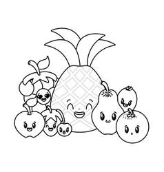 kawaii cartoon character vector image