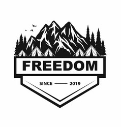 Logo mountain adventure camping climbing vector