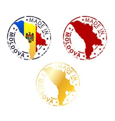 Made in Moldova stamp vector