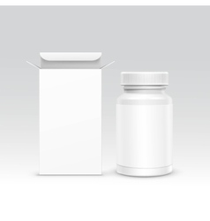 Medical Packaging Box and Bottle vector image