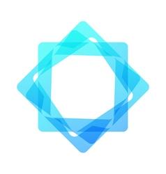 Mosaic rectangle geometric logo vector