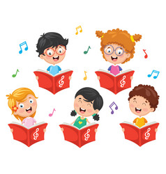 Of kids choir vector