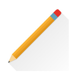 pencil flat icon on a white background vector image