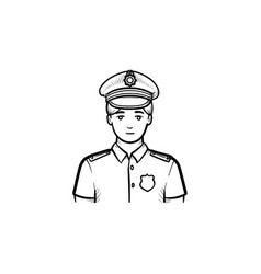 policeman hand drawn outline doodle icon vector image