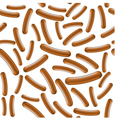realistic boiled sausage seamless pattern street vector image