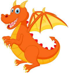 Red dragon cartoon vector