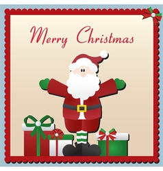 Santa Claus Christmas Card vector image vector image