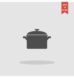 Saucepan icon vector