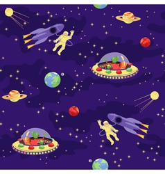 Seamless bapattern space travel vector