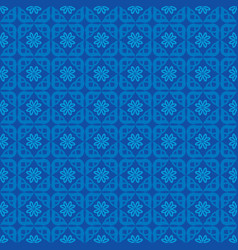 seamless pattern blue background vector image