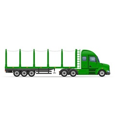 semi truck trailer 11 vector image