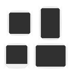 set frame with corners vector image