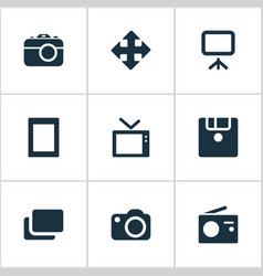 set of simple digital icons vector image