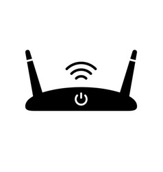 Silhouette wi-fi router outline icon device vector